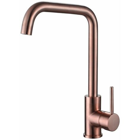 Reginox Rion Kitchen Sink Tap Swivel Spout Mixer Hot Taps Single Lever Copper