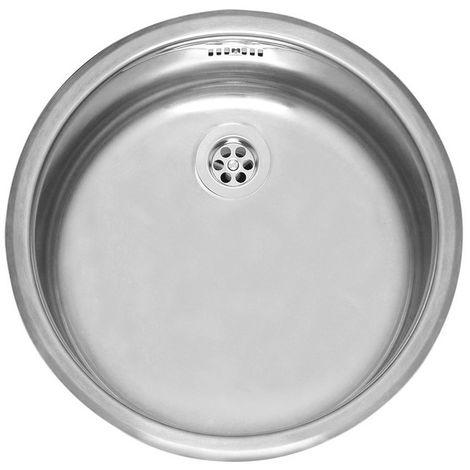 Reginox Round R18 370 OSP (R) Stainless Steel Single Bowl Inset Sink