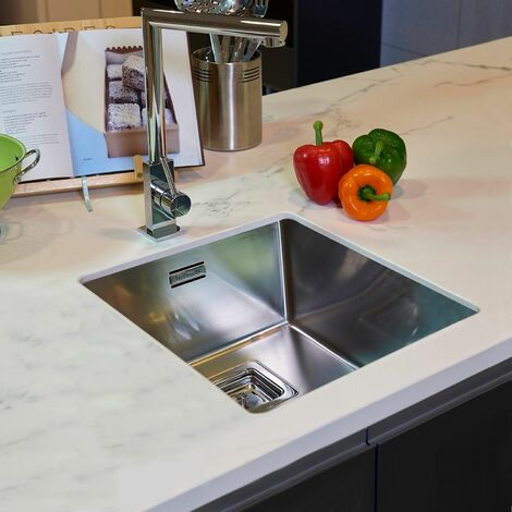 Reginox Texas Single Bowl Kitchen Sink Integrated 30 x 40 Stainless Steel Waste
