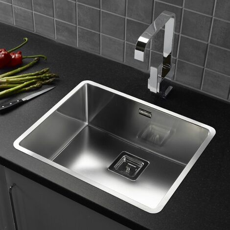 Reginox Texas Single Bowl Kitchen Sink Integrated 50 x 40 Stainless Steel Waste