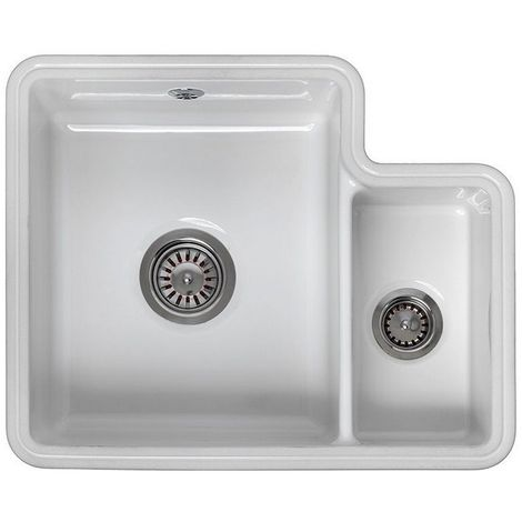 Reginox Tuscany 1.5 Bowl White Ceramic Undermount Kitchen Sink