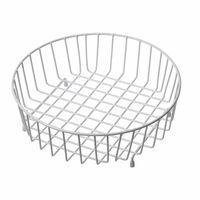 Reginox White Round Kitchen Sink Draining Storage Drainer Basket