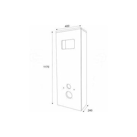 Regiplast HAB01 Habillage WC seul pour Bâti 400 mm