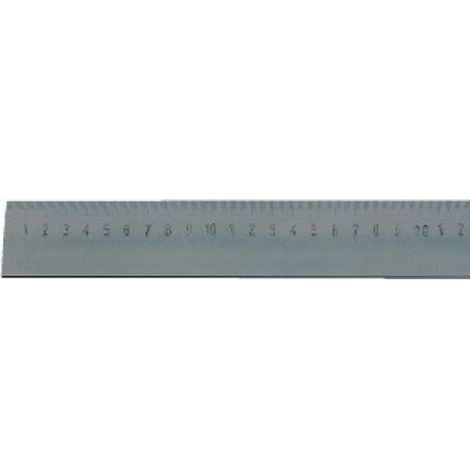 Regla de acero, Largo : 500 mm, Ancho : 40 mm, Espesor 5 mm