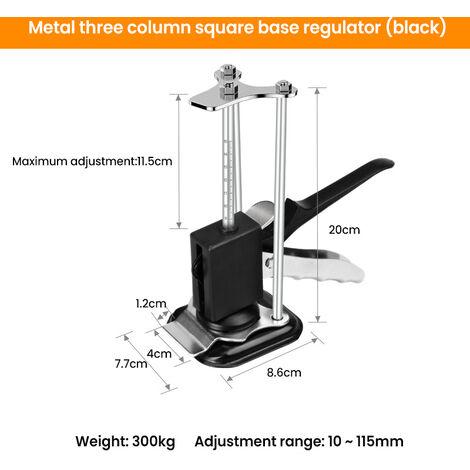Reglage de la hauteur des carreaux de ceramique Positionneur de levage manuel avec echelle Outil de reparation de cric a main Base carree a trois colonnes