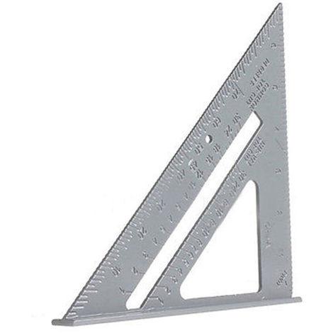 Reglas triangulares de 6.5 pulgadas, medicion de encuadre de inglete transportador