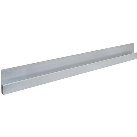 Règle à lisser en alu forme «h» Longueur 1200 mm avec bourrelet de renforcement aluminium