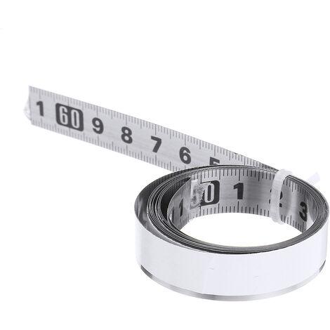 Règle auto-adhésive d'échelle métrique de mètre ruban de voie d'onglet d'acier inoxydable milieu à droite et gauche 1m