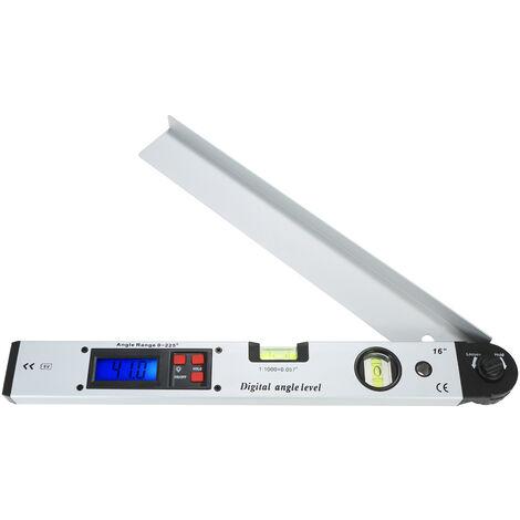 Regle d'angle de niveau electronique de 225 degres 400MM regle d'angle droit de menuisier rapporteur d'angle d'affichage numerique expediesans batterie