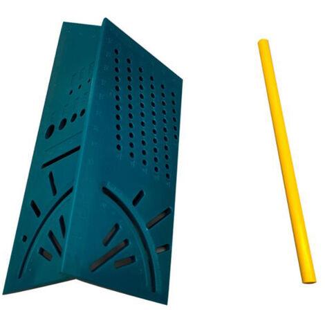 Regle de menuiserie 3D Regle de mesure ABS multifonctionnelle tridimensionnelle en trois dimensions avec un crayon