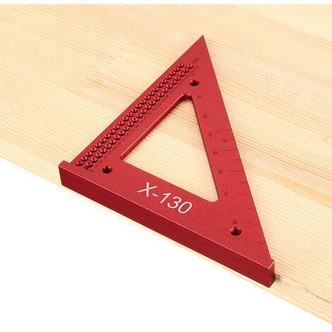 Règle de Triangle de travail du bois métrique en alliage d'aluminium menuisiers règle de mesure de positionnement de trou carré