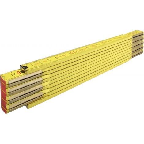 Règle graduée pliante en bois Jaune 2m jaune Stabila