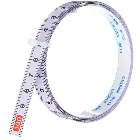 Règle métrique auto-adhésive, piste à onglets, ruban à mesurer, scie à onglets en acier, échelle pour routeur à rail en T, table, scie à ruban, outil de travail du bois 1 m inversé 1 M (1M-0)