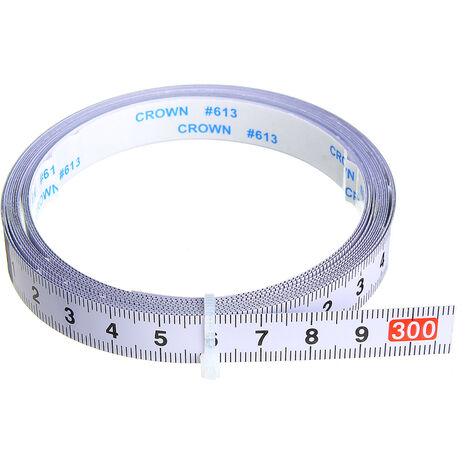 Règle métrique auto-adhésive piste d'onglet ruban à mesurer en acier scie à onglet échelle pour T-track routeur Table scie à ruban outil de travail du bois 3m avant 3M (0-3M)