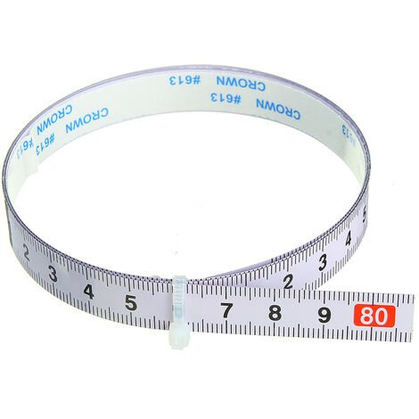 Règle métrique auto-adhésive, piste d'onglet, ruban à mesurer, scie à onglet en acier, échelle pour toupie, table, scie à ruban, outil de travail du bois, 0.8 m positif, 0.8 M (0-0.8 M)