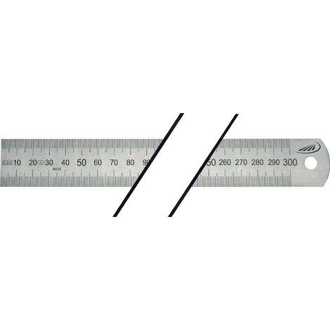 Réglet en acier Longueur 1500 mm acier flexible Graduation A = mm/mm
