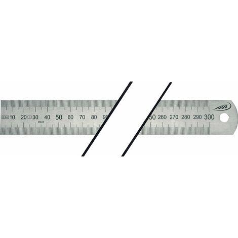 Réglet en acier Longueur 2000 mm acier flexible Graduation A = mm/mm