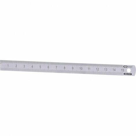 Réglet semi-rigide en inox, L.150 mm - H.13 mm