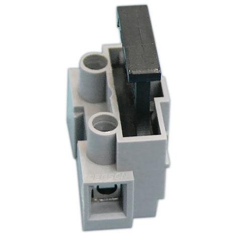 Regleta a tornillo con portafusible incorporado 1 Polo Electro DH Color Gris y Negro 10.871/1 8430552142217