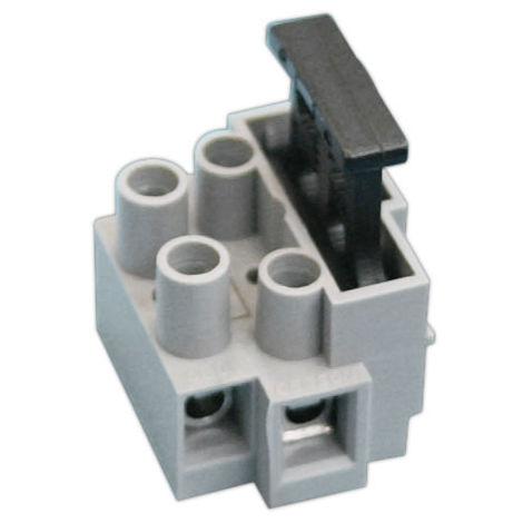 Regleta a tornillo con portafusible incorporado 2 Polos Electro DH Color Gris y Negro 10.871/2 8430552142224