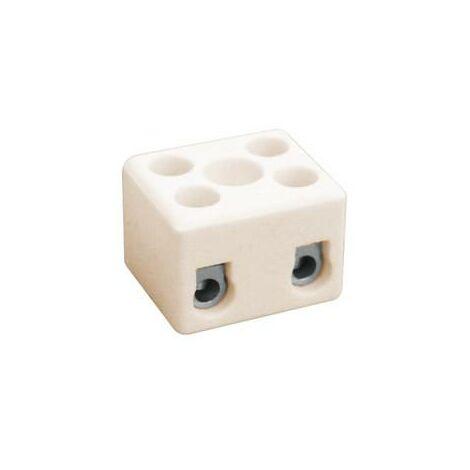 Regleta Ceramica 2 Polos Cable 2,5mm 16A/400Vac