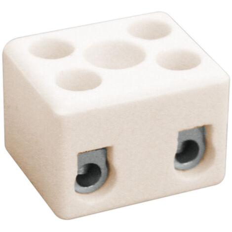 Regleta cerámica de dos polos 2,5 mm2 (Electro DH 10.735/2)