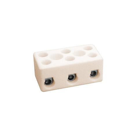 Regleta cerámica de tres polos 3 mm² (Electro DH 10.735/3)