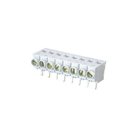 Regleta de 18 Terminales 10 mm Tipo Vertical para circuito impreso con tornillo y lámina de protección Electro DH 10.858/18/10 8430552014088