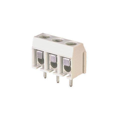 Regleta de 3 Terminales para circuito impreso con tornillo y lámina de protección 10.856/3/90 Electro DH 8430552014040