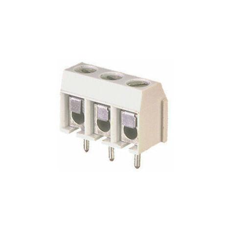Regleta de 3 Terminales para circuito impreso con tornillo y lámina de protección 10.856/3 Electro DH 8430552014033