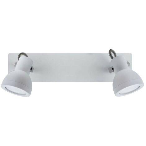 Regleta de techo Heli (2 luces) | Blanco