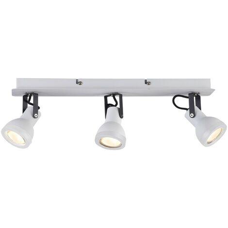 Regleta de techo Heli (3 luces) | Blanco