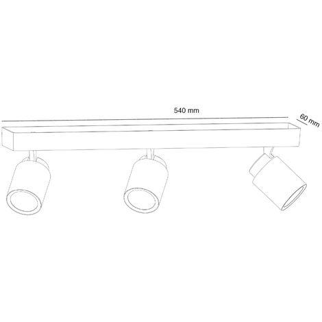 Regleta de techo Iris (3 luces) | Blanco