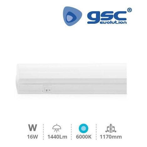 Regleta electronica LED T5 1170mm 16W 6400K GSC 001705381
