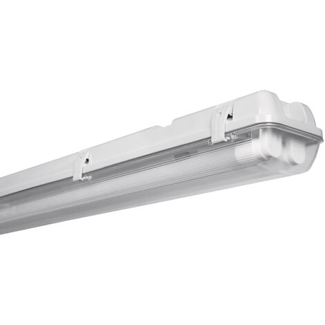 Regleta estanca con tubo Led Osram 2x17W 4000K 1265mm. IP65 (Osram 4052899398320)