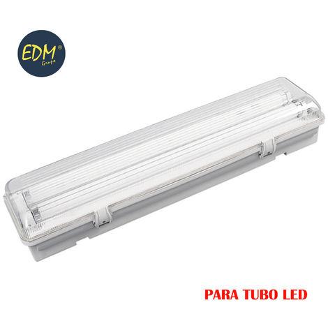 Regleta estanca para 2 tubos led de 18w (eq 2x36w) 125cm ip44 - edm