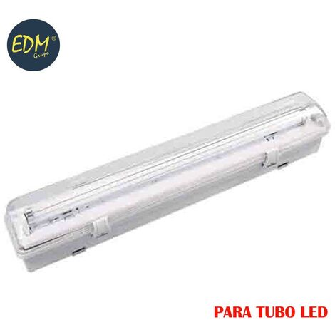 REGLETA ESTANCA PARA TUBO LED EQ 1X18W 65CM EDM IP44