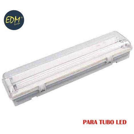REGLETA ESTANCA PARA TUBO LED EQ 2X18W 65CM EDM IP44