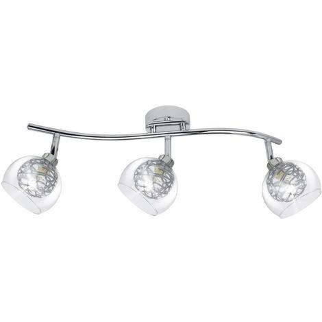 Regleta Floki cromo 3 luces