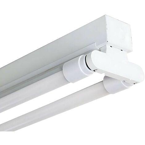 Regleta Fluorescente 2x18W Tubos T8 G13 2600lm 4000K 7hSevenOn
