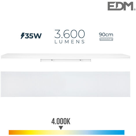 REGLETA LED 35W 90cm 4000K LUZ DIA 3600 Lm EDM