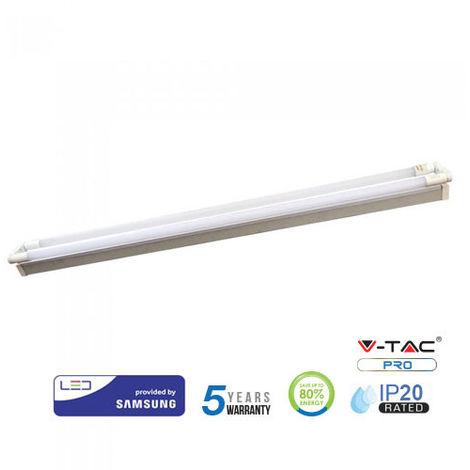 Regleta LED doble Samsung V-TAC PRO IP20 44W 150cm - Tubos LED incluidos Temperatura de color - 6400K Blanco frío