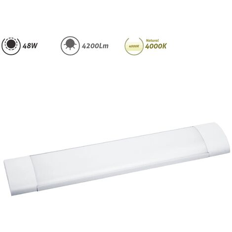 Regleta LED electrónica 48W 4200Lm 4000K - Blanco