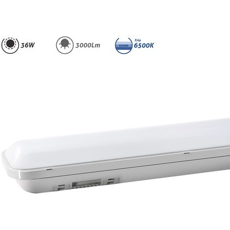 Regleta LED electrónica estanca 36W 3000Lm 6500K - Blanco