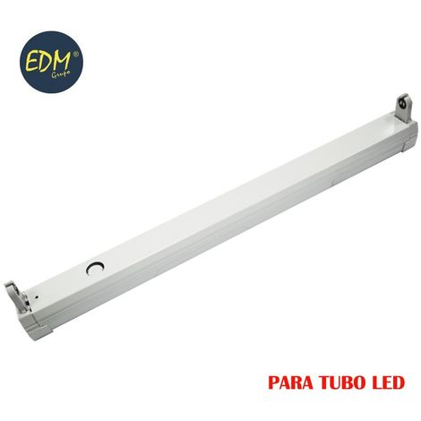 Regleta para tubo led eq.18w 62 cm EDM