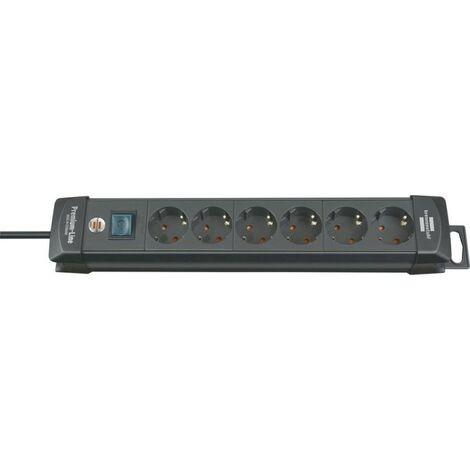 Regleta Premium 6-salidas H05VV-F3G15 3m brennenstuhl