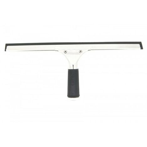 Regleta raqueta limpia vidrios - lunas - cristales profesional con soporte 45 cm. Uso manual compatible con Pértiga.