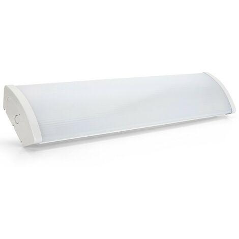 Réglette acrylique opalescente lampe LED 2X18W 6500K 1250 x 65 x 153 mm ASLO