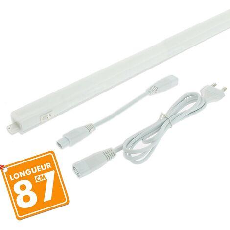 Réglette avec Tube LED Intégré T5 10W 87 cm | Température de Couleur: Blanc froid 6500K