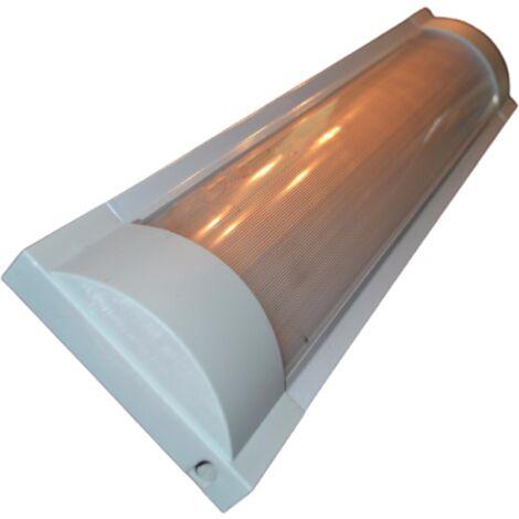 Réglette double pour Tubes lumineuse LED T8 60cm Réflecteur Opaque